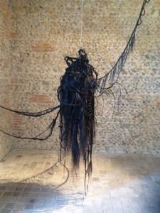 le centaure -scultpure en crin de cheval - dim variables - 2013